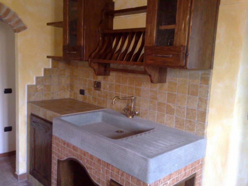 Cucina In Muratura Lavello Da Incasso In Pietra O Marmo Ebay ...