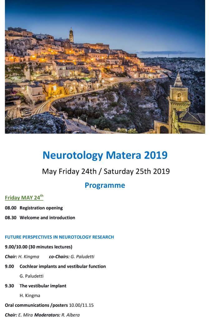 Neurotology Matera