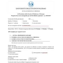 Attività didattica opzionale acufeni - Palermo