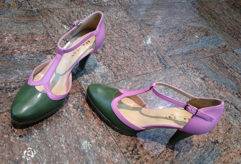 Passante caviglia bicolore.