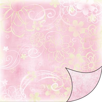 Sbb036 Fiori Grafici Sfumato Rosa Carte E Fantasia Di Giulia