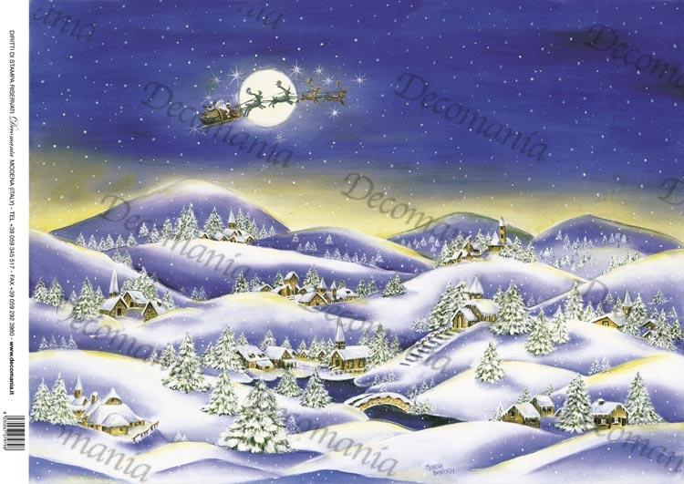 Paesaggi Natalizi Di Carta Disegni Di Natale