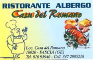 Sala Per Cerimonie a Genova. Contatta RISTORANTE ALBERGO CASA DEL ROMANO tel 010 95946 cell 347 2733773