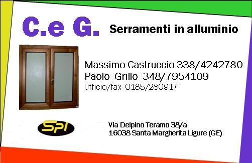 Infissi a Santa Margherita Ligure. Rivolgiti a C&G SERRAMENTI SNC tel 0185 280917 cell 338 4242780 - 348 7954109