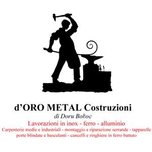 Costruzioni metalliche a Brandizzo. D'ORO METAL COSTRUZIONI DI DORU BOBOC tel 0161 846273 cell 392 1639926