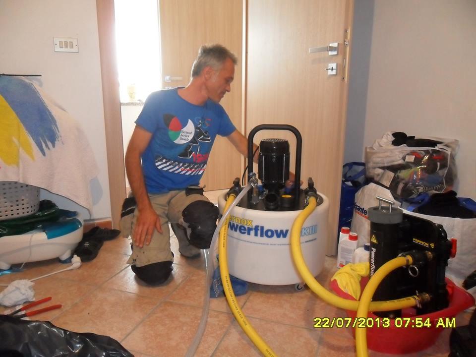 Lavaggio impianti termici Asti