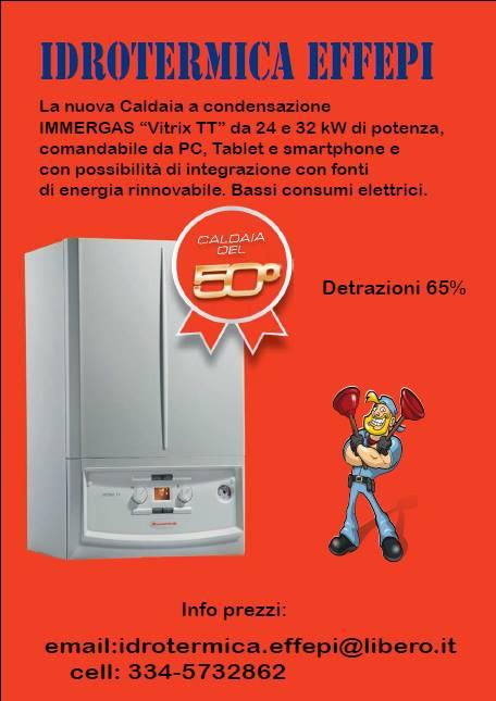 Caldaia immergas a condensazione 24 kW comandabile da smatphone, tablet e pc.
