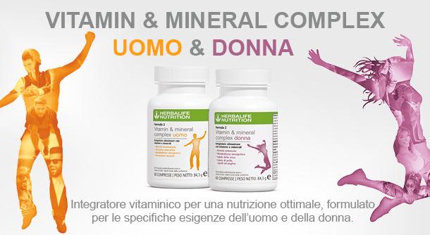 Vitamin & Mineral Complex Uomo - Donna