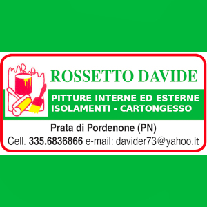 Tinteggiature e Imbiancature a Prata di Pordenone. Chiama ROSSETTO DAVIDE cell 335 6836866