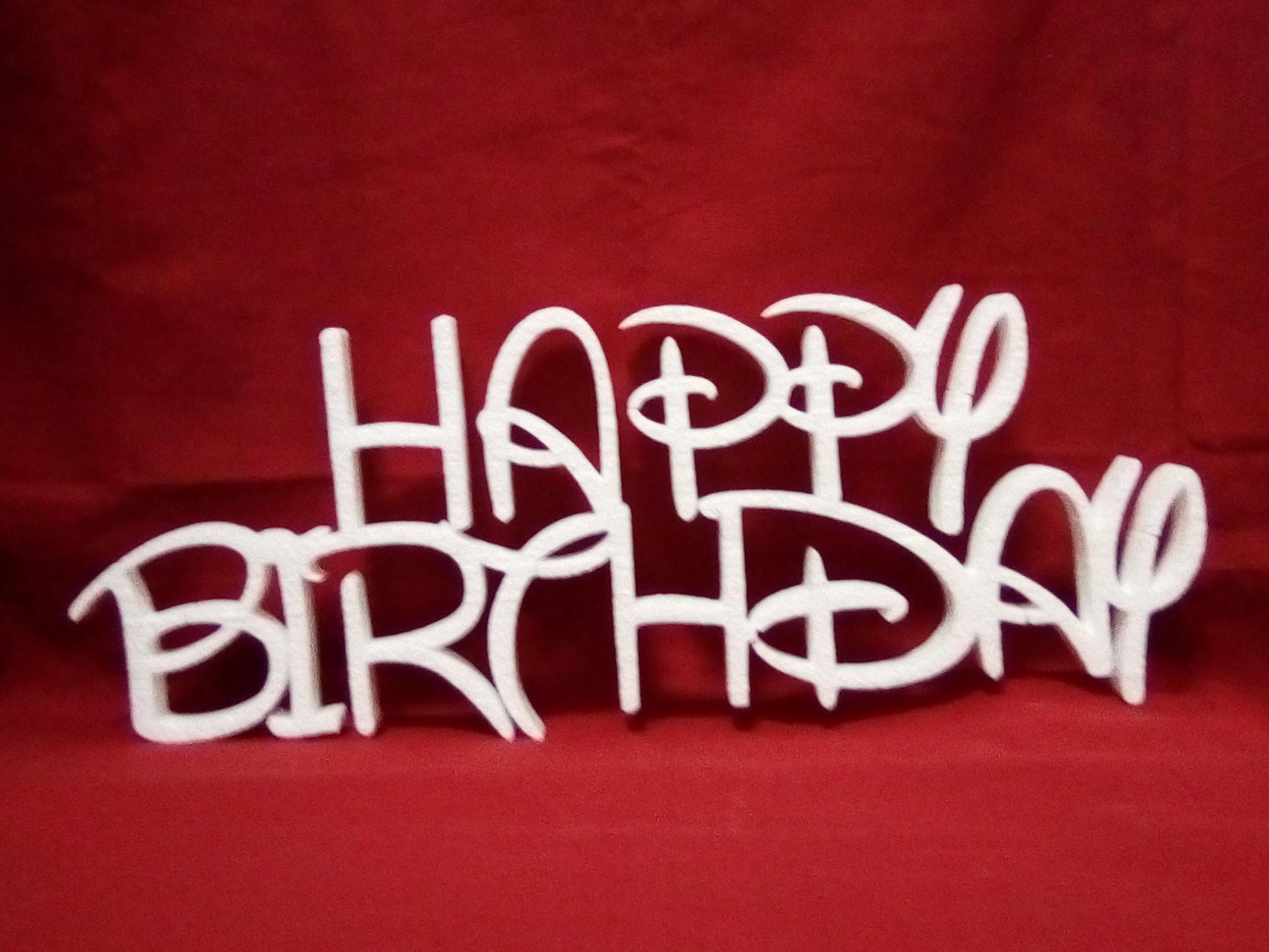 Sagoma Happy Birthday