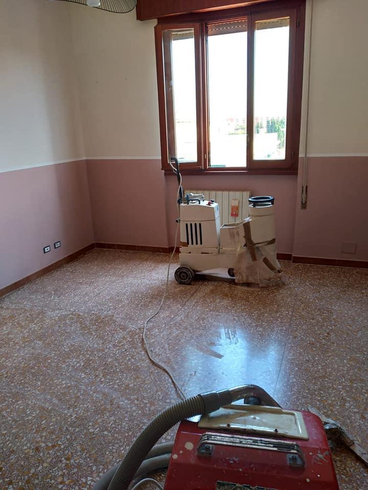 Lavorazione pavimenti alla veneziana