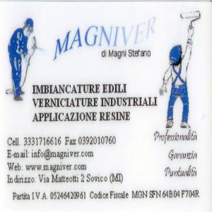 Verniciature industriali a Milano. MAGNIVER DI MAGNI STEFANO tel 039 2010760 cell 333 1716616