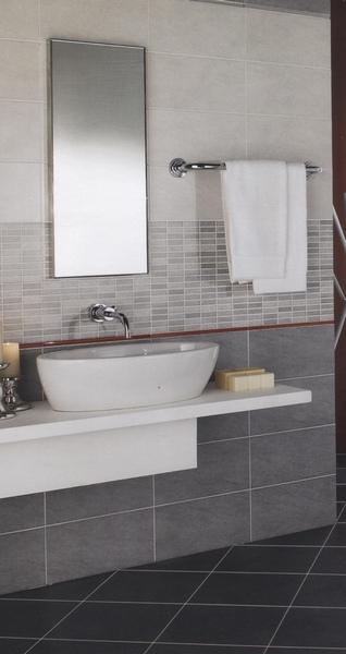 Mattonelle Bagno Mosaico: Bagno con mosaico blu marrone triseb.