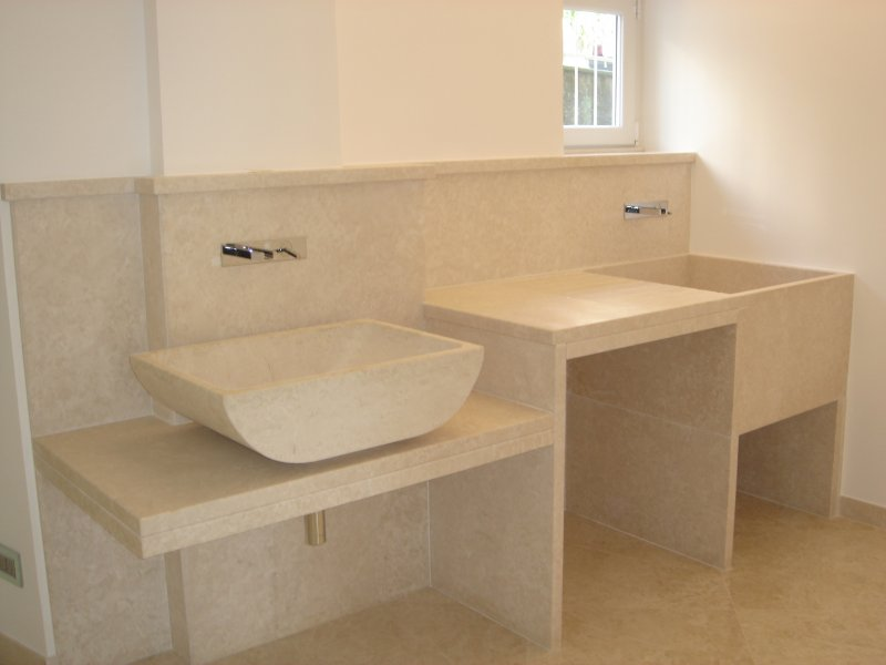 Top bagno e rivestimento bagno marmi nota - Rivestimento bagno in marmo ...