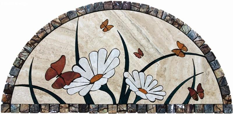 Mosaici rosoni greche in marmo marmi nota for Mosaici in marmo per pavimenti