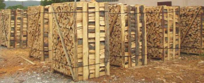 Bancali di legna da ardere