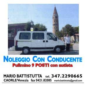 NOLEGGIO CON CONDUCENTE MARIO BATTISTUTTA