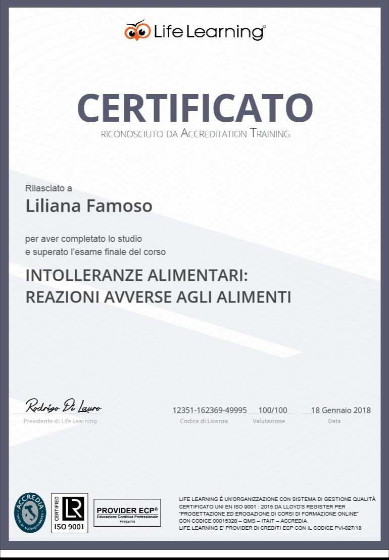 Corsi di aggiornamento e certificati