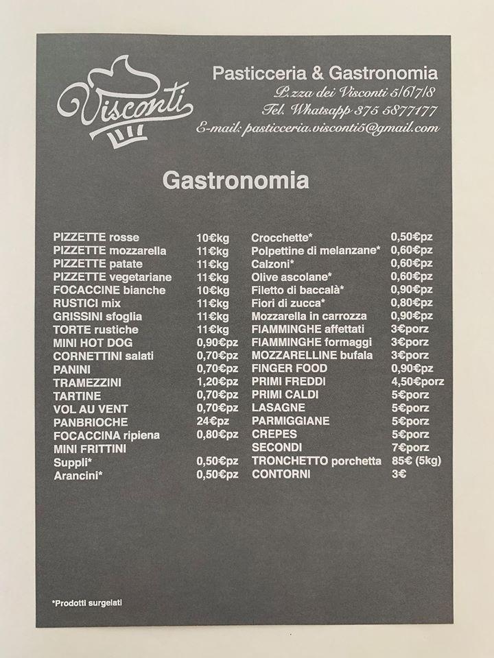 Menù gastronomia a Roma