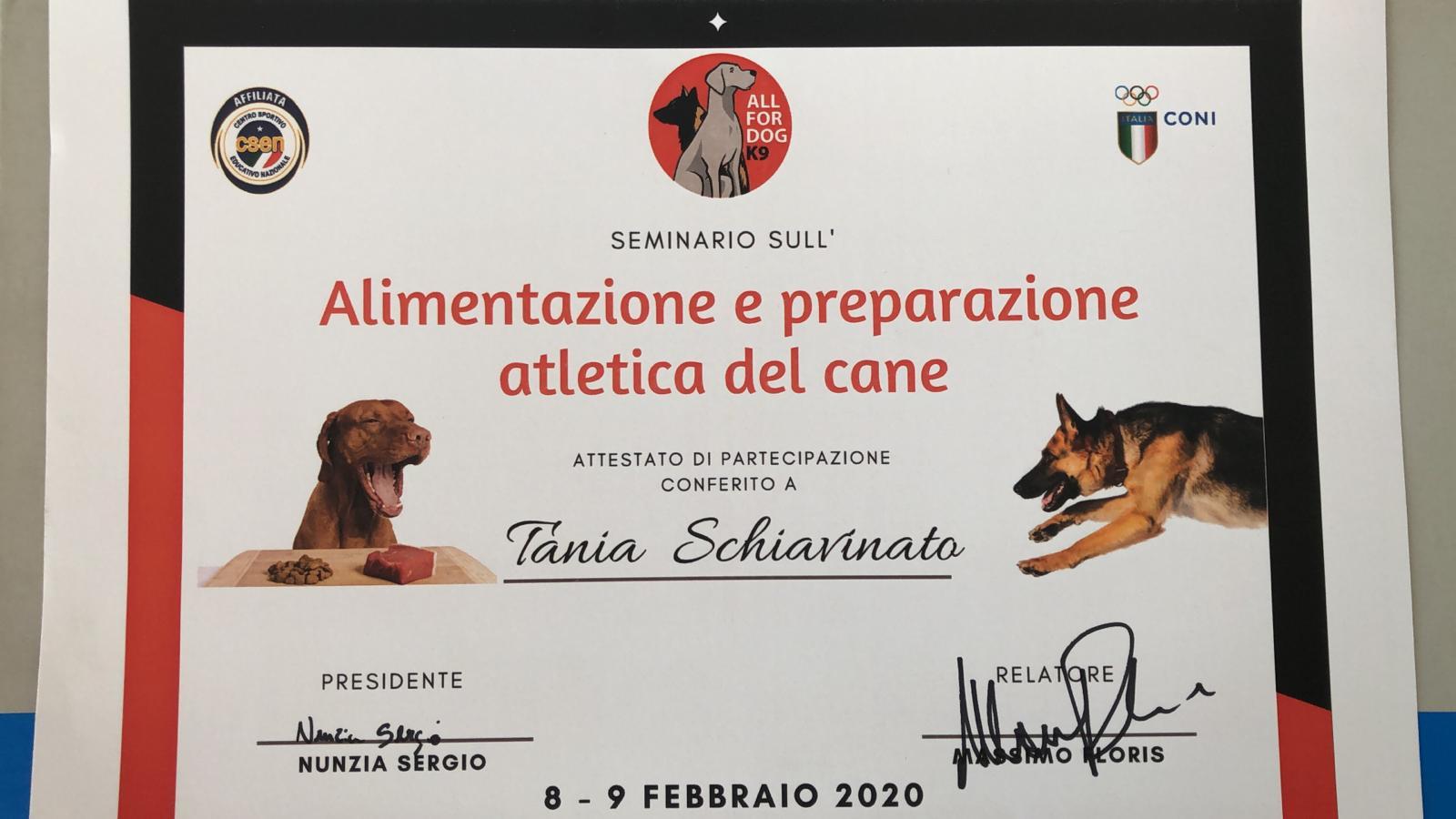 Alimentazione e Preparazione Atletica del Cane