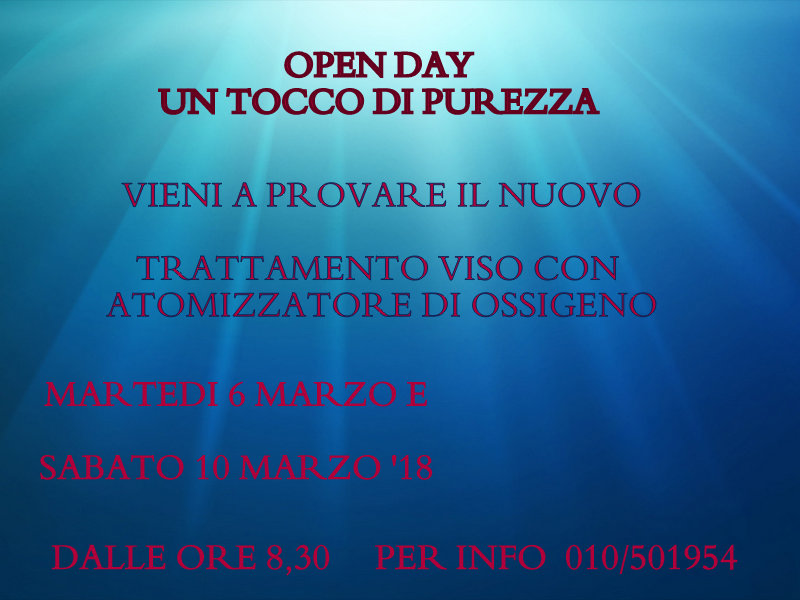 Open Day 6-10 Marzo