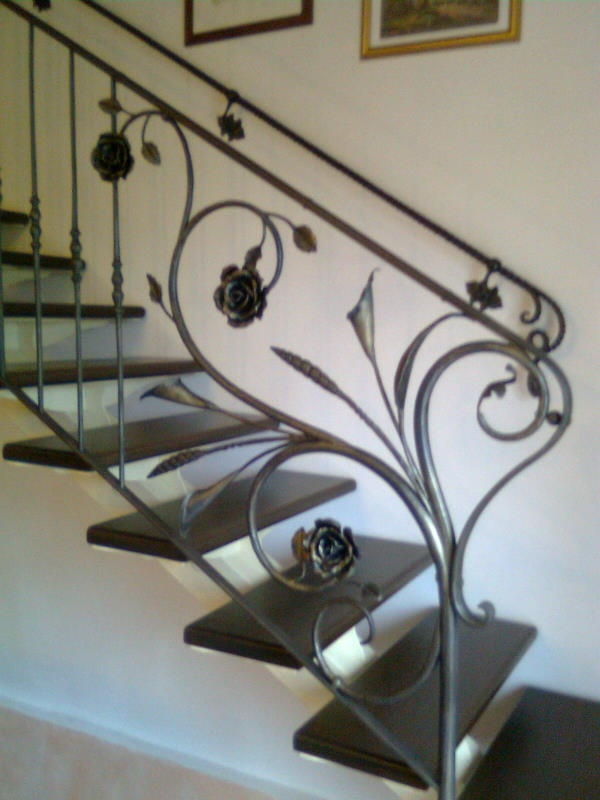 Ringhiere e scale in ferro
