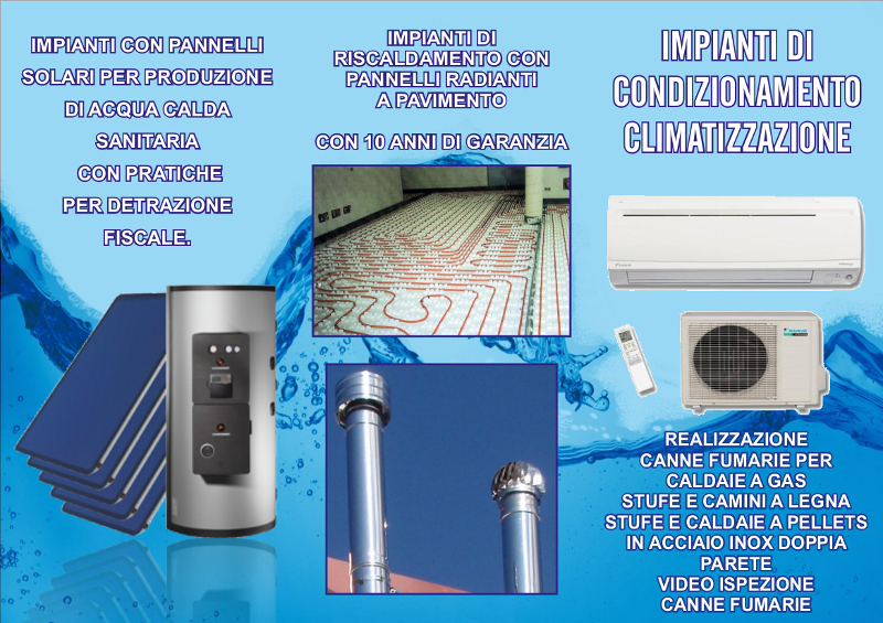 Impianti di condizionamento climatizzazione