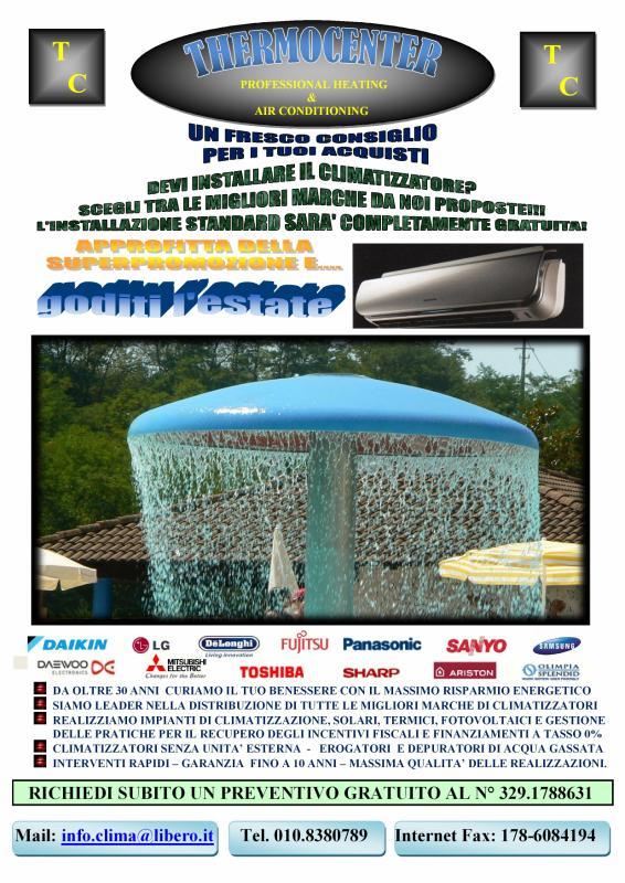 CLIMATIZZATORI SANYO A GENOVA. RIVOLGITI A THERMOCENTER TEL. 329 1788631