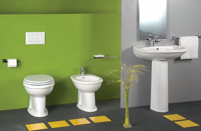 Offerta sanitari wc bidet lavabo blu mare vg for Sanitari per bagno in offerta
