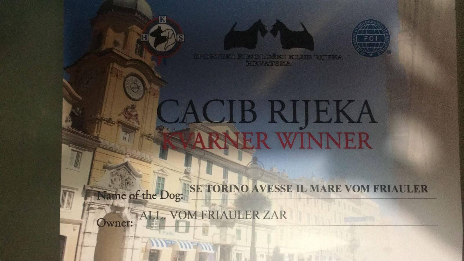 Campionessa kvarner winner 2018